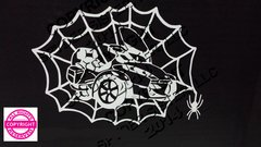 Can Am Spyder RT Spider Web Vehicle Decal Sticker