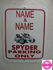 Can Am Spyder RT Personalized Two Name Parking Sign