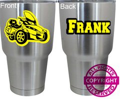 Can Am Spyder - Personalized 30oz Stainless Steel Tumbler- Choice of Spyder
