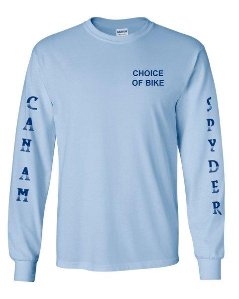Can Am Spyder Blue Design- Long Sleeve