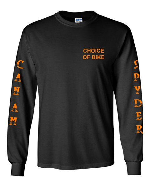 Can Am Spyder Neon Orange Design Long Sleeve