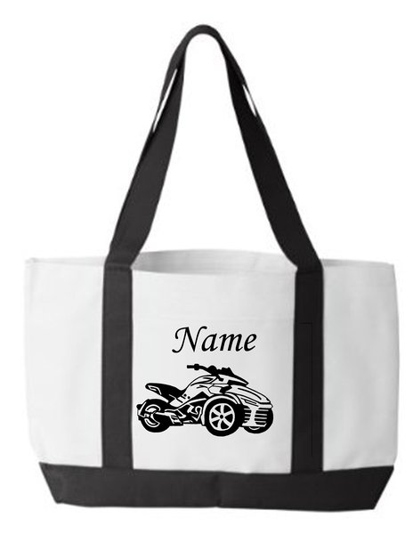Can Am Spyder F3 Personalized Tote Bag