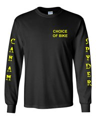 Can Am Spyder Neon Yellow Design Long Sleeve