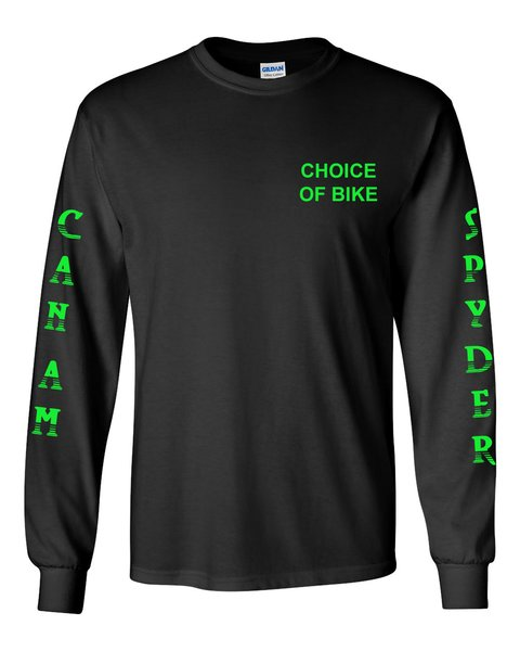 Can Am Spyder Neon Green Design Long Sleeve