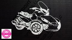 Can Am Spyder ST Vehicle Decal Sticker