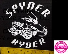 Can Am Spyder ST Round Lettering Vehicle Decal Sticker