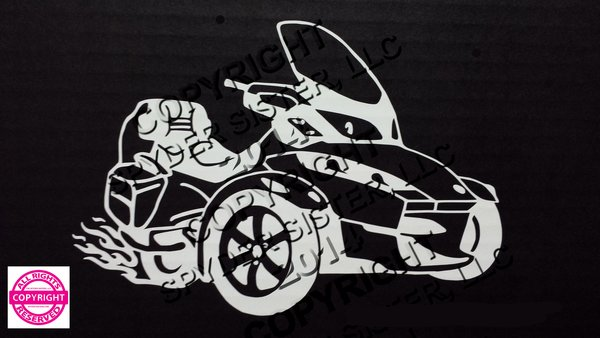 Can Am Spyder RT with Flames Vehicle Decal Stickers