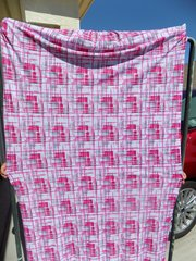Can Am Spyder Sun Shade - Pink/Grey Lines