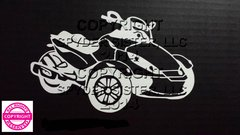 Can Am Spyder RS Vehicle Decal Sticker