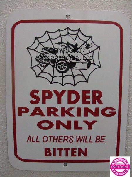 Can Am Spyder ST Spider Web Parking Sign