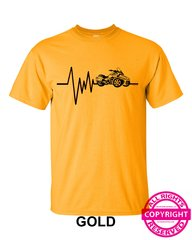 Can Am Spyder - Mens Heartbeat - short sleeve