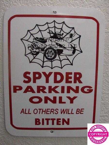 Can Am Spyder RS Spider Web Parking Sign