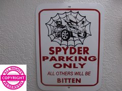 Can Am Spyder RT Spider Web Parking Sign