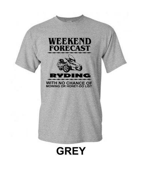 Can Am Spyder - Weekend Forecast  Mens Design- Short Sleeve Shirts