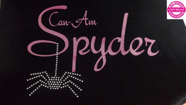 Can Am Spyder Glitter and Rhinestone Spider Shirt-5 glitter colors