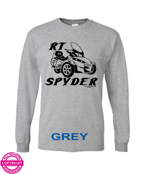 Can Am Spyder Choice of Bike with Lettering - Long Sleeve Shirt