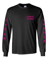 Can Am Spyder Hot Pink Design Long Sleeve
