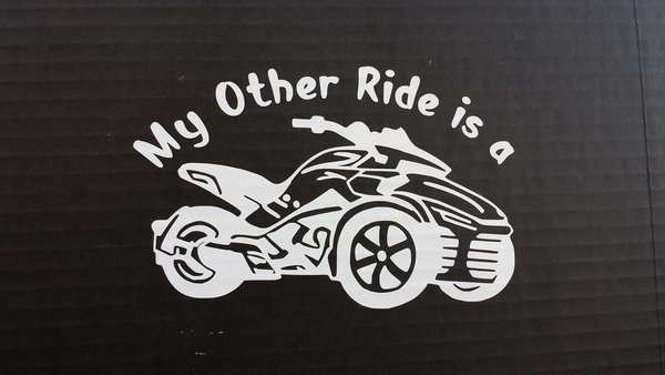 Can Am Spyder F3 Vehicle Decal Sticker - My Other Ride is a F3