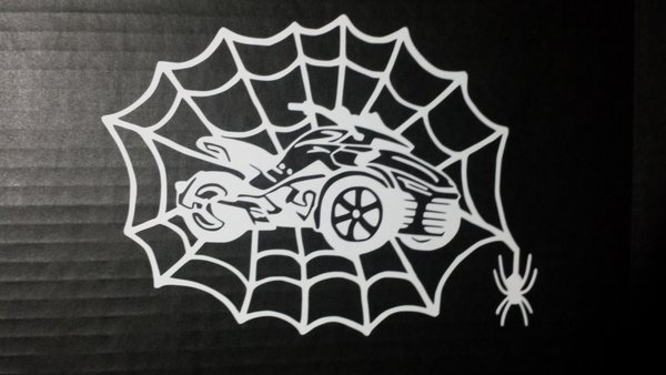 Can Am Spyder F3 Spider Web Vehicle Decal Sticker