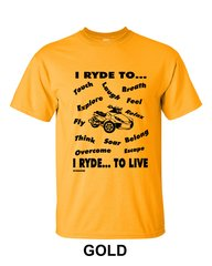 Can Am Spyder - I RYDE TO LIVE- Short Sleeve Shirts