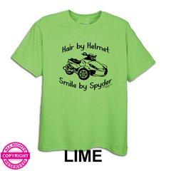 Can Am Spyder - Hair by Helmet - Short Sleeve Shirt