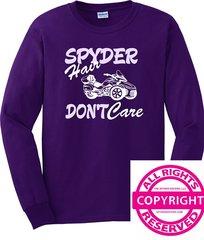 Can Am Spyder - Spyder Hair, Don't Care - Long Sleeve