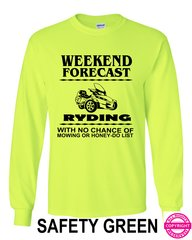 Can Am Spyder Mens Weekend Forecast - Long Sleeve