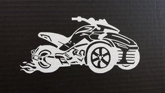 Can Am Spyder F3 with Flames Vehicle Decal Stickers