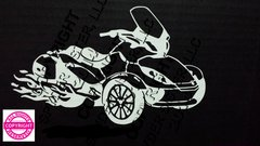 Can Am Spyder ST Limited with Flames Vehicle Decal Stickers