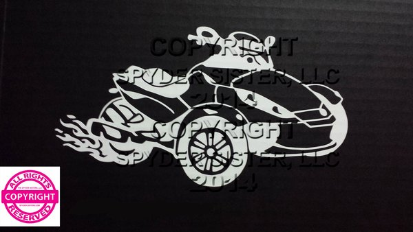 Can Am Spyder RS with Flames Vehicle Decal Stickers