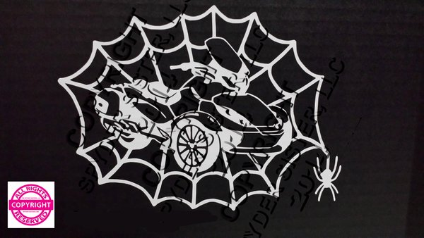 Can Am Spyder ST Limited Spider Web Vehicle Decal Sticker
