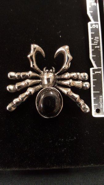 Black Stone Spider - Pendant