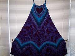 Super Vee Heart Long Dress Purple/Blue