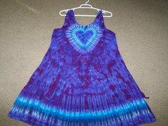 Purple Heart short wide strap Dress