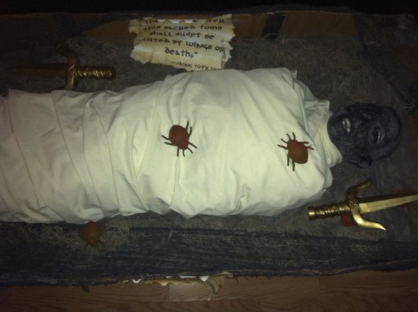 mummy, prop, king tut, egyptian, halloween,