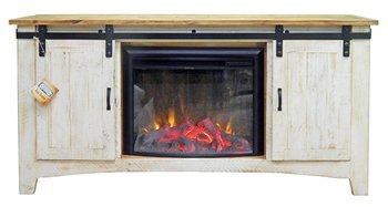 Home Reserve Furniture BARN DOOR FIREPLACE TV   TV CONSOLE   RUSTIC   INDUSTRIAL ...