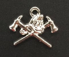 Firefighter Charm Tibetan Silver Metal