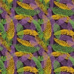Mardi Gras Pattern Digitally Printed