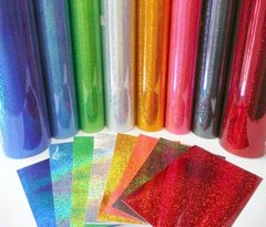 Red - Fantasy FIlms Outdoor Glitter Adhesive Vinyl