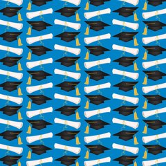 Education Pattern Digitally Printed