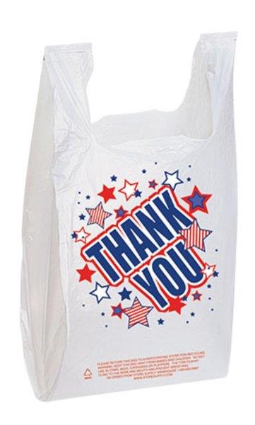 "Plastic Americana ""Thank You"" Bag"