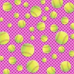 Softball Digitally Printed - Pattern 1