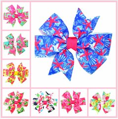 Lilly Inspired Hair Bows with Gator Clip