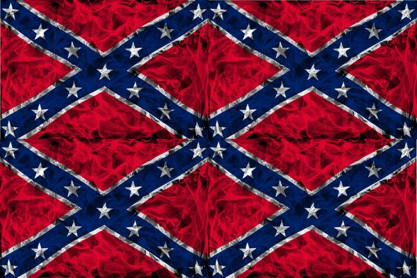 Confederate Flag Vinyl Pattern 1 | Sticky Fingers Vinyl Craft Sign ... : rebel flag quilt pattern - Adamdwight.com