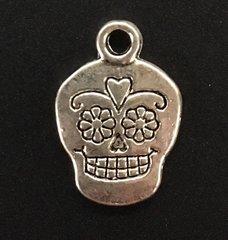 Sugar Skull Charm Tibetan Silver Metal