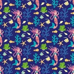 Mermaid Pattern Digitally Printed