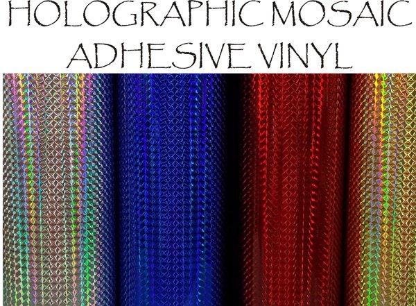 Holographic Mosaic Adhesive Vinyl Sticky Fingers Vinyl