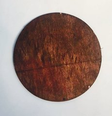 Medium Pre-stained Wood Circle with Drilled Hanger Hole Vinyl Craft Blanks