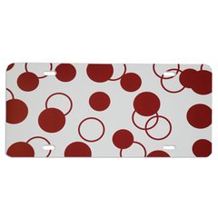BURGUNDY DOTS Heavy Plastic License Tag Blanks