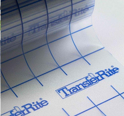 Yd Roll TransferRite Clear Transfer Tape With GRID Sticky - Vinyl and transfer tape